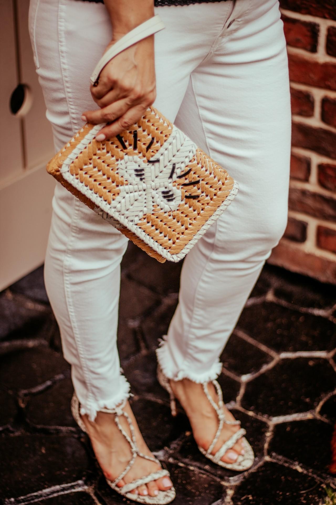white jeans closet staple blogger fashion