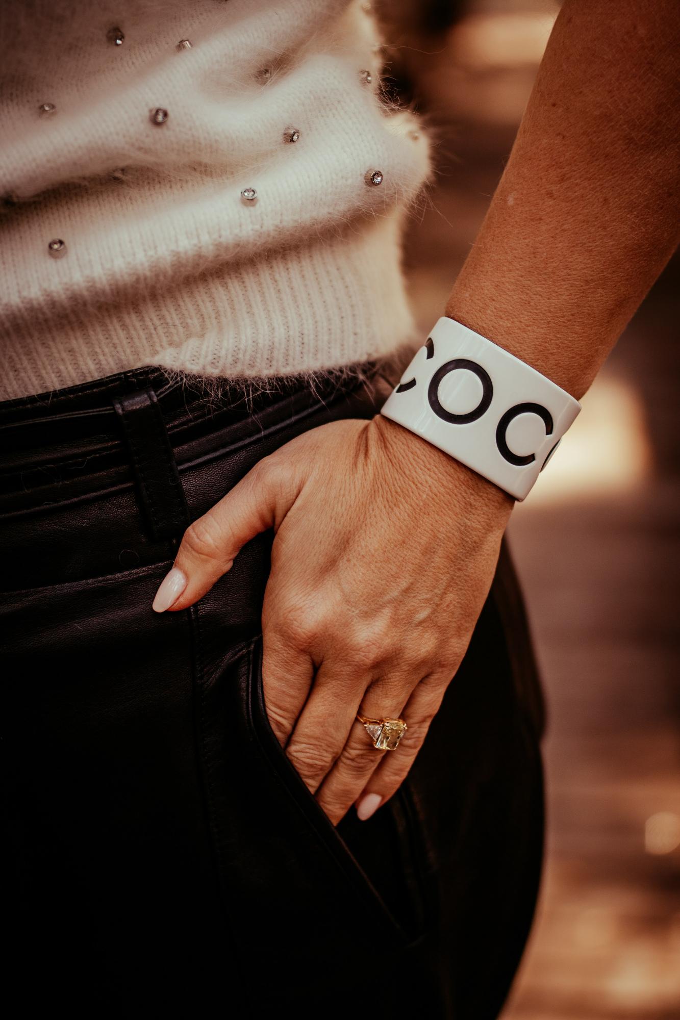 designer logo cuffs