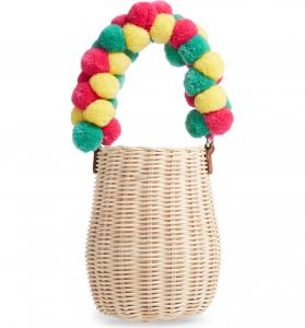 halogen atlantic pacific wicker basket bag