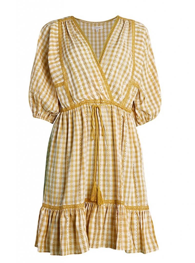 gingham prairie dress