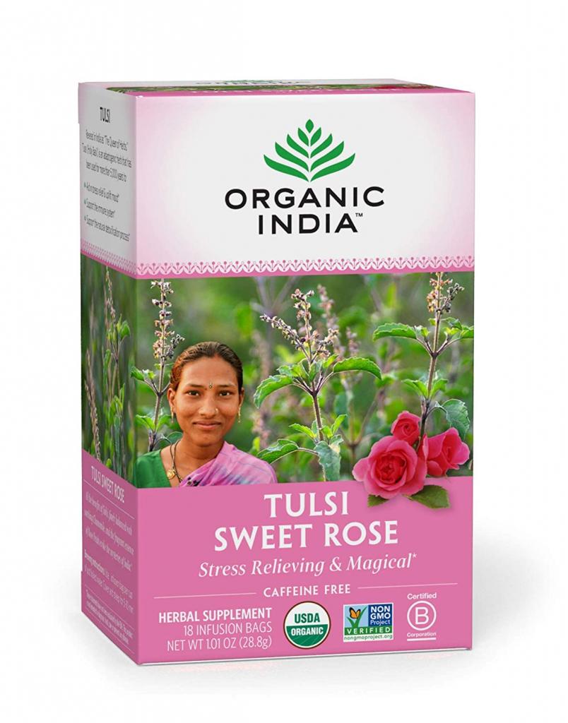 organic india sweet rose tea bags