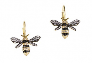 drop bee earrings