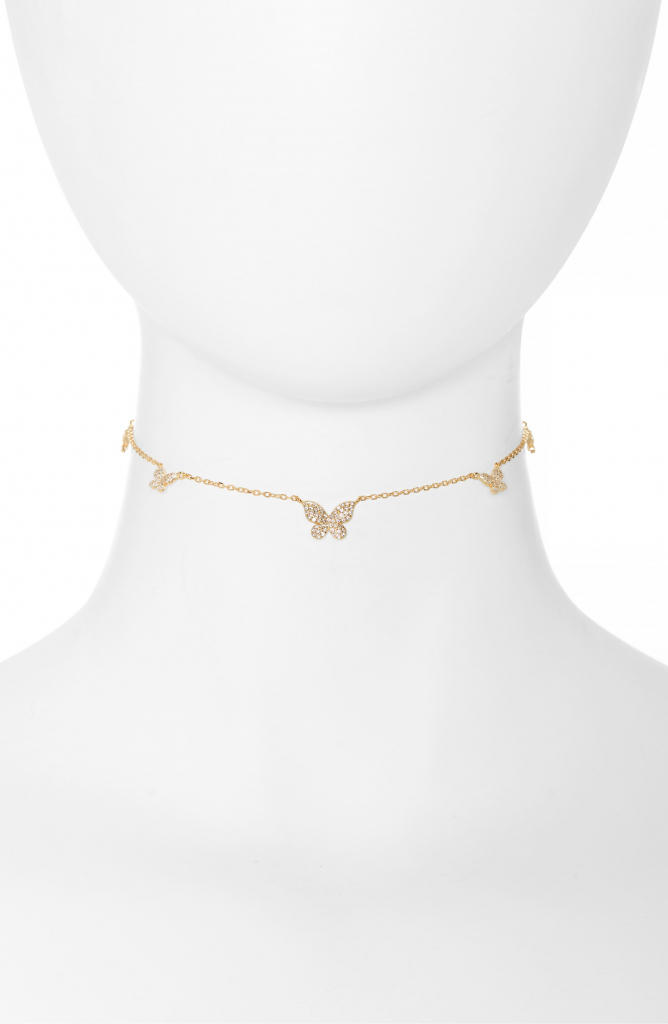 charm choker necklace