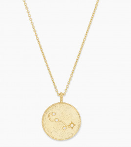 astrology coin necklace