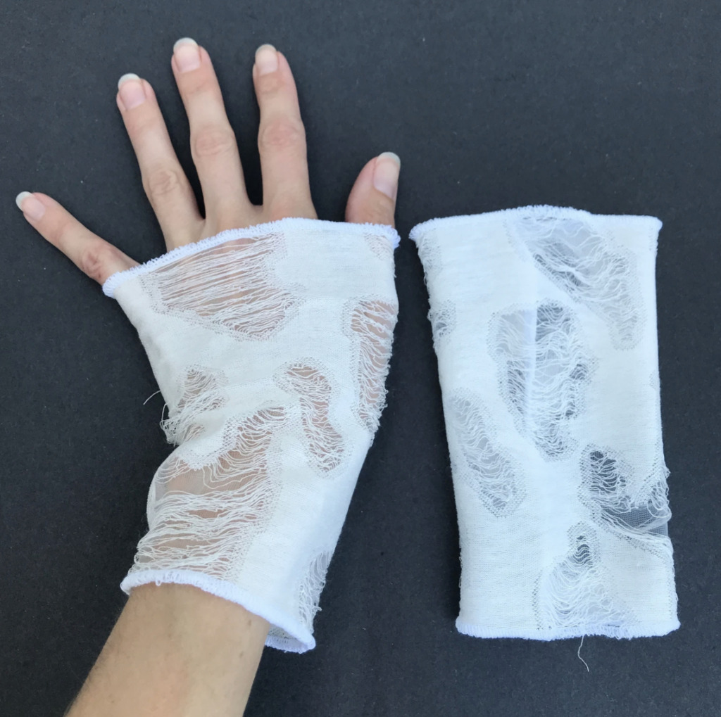 ripped gloves