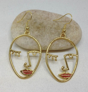 picasso red earrings