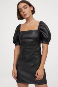 hm leather dress
