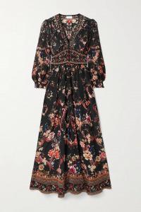 camilla silk crepe de chine maxi dress