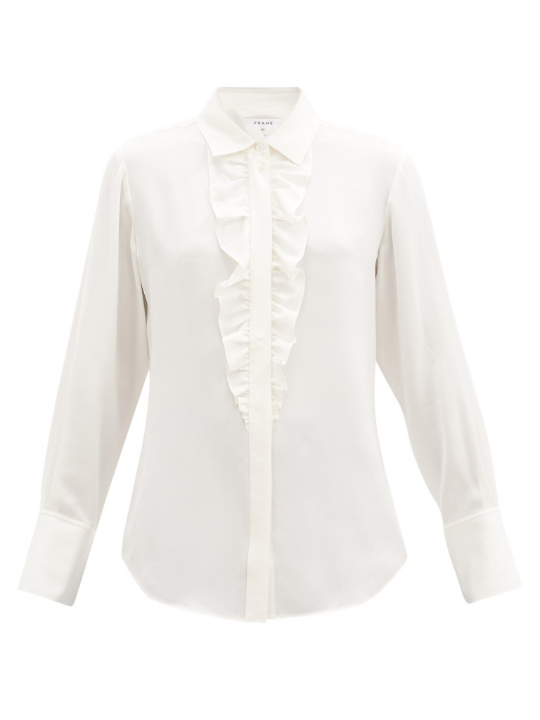 frame ruffle blouse