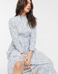 asos poplin floral maxi dress