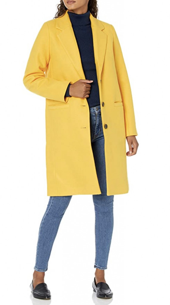 amazon oversized plush yellow coat