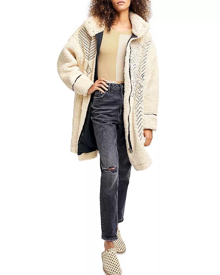 free people fur teddy coat