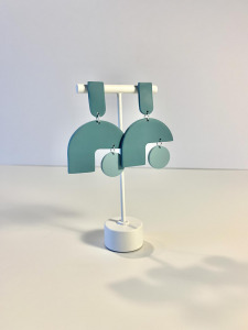 geometric polymer clay earrings