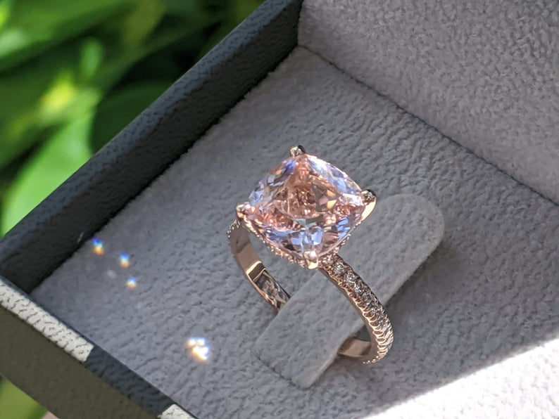 morganite engagement ring