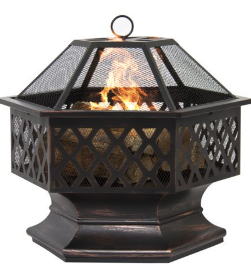Outdoor Hex Shaped Patio Fire Pit