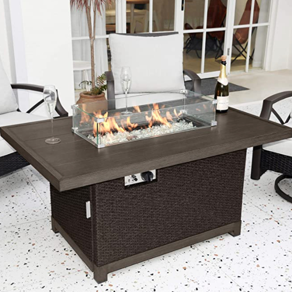 Kinger Home Propane Fire Pit Table