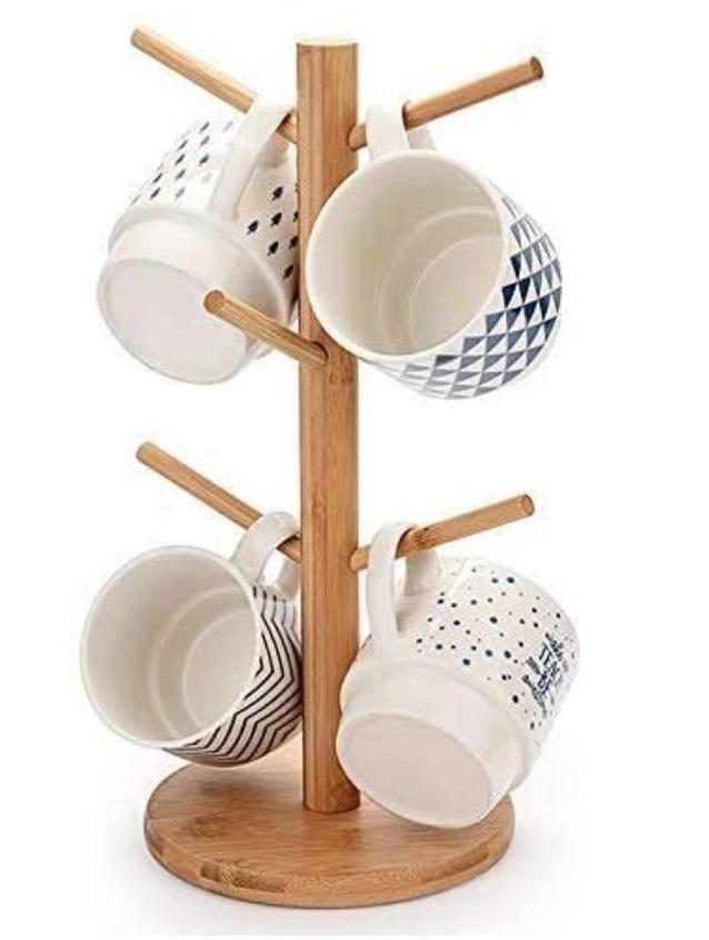 Bamboo Mug Rack - $13.88