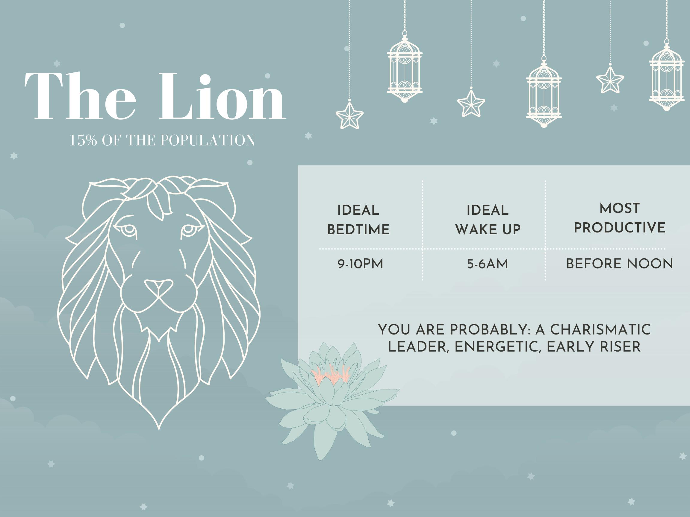 lion chronotype