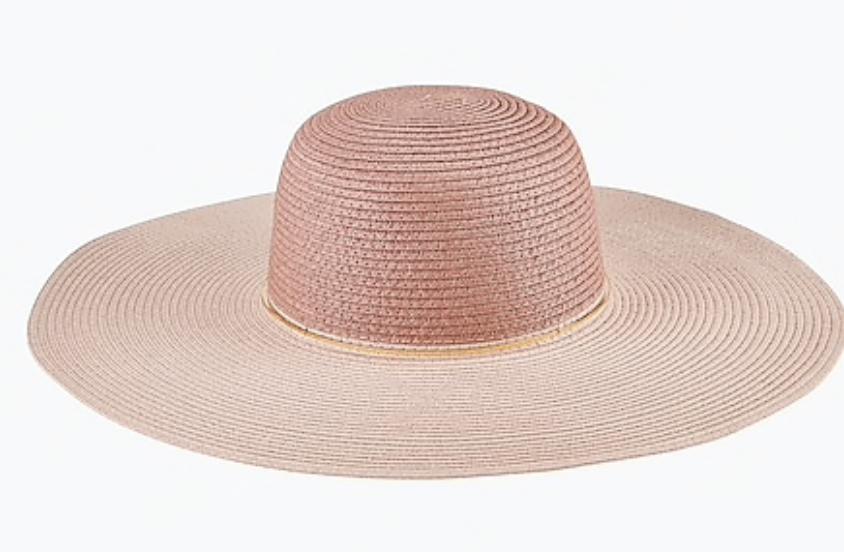 pink beach hat