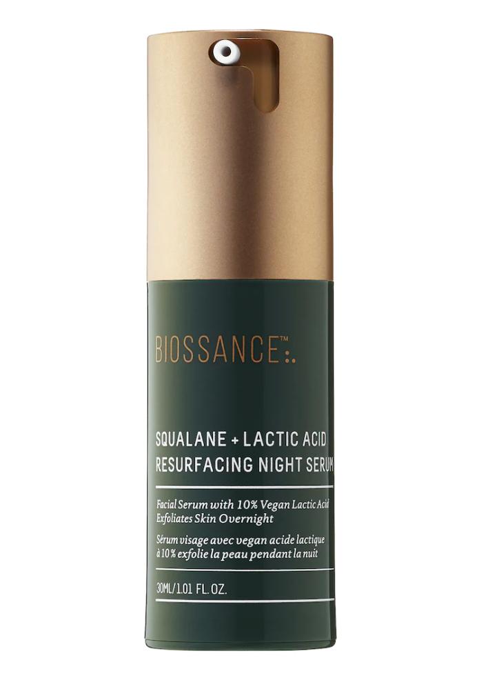 Squalane + 10% Lactic Acid Resurfacing Night Serum