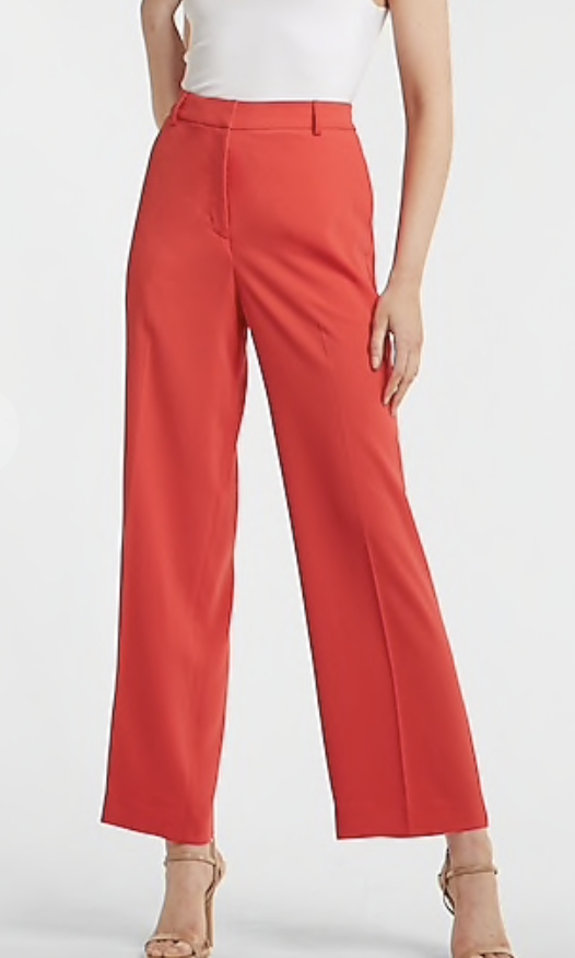 red vibrant trousers
