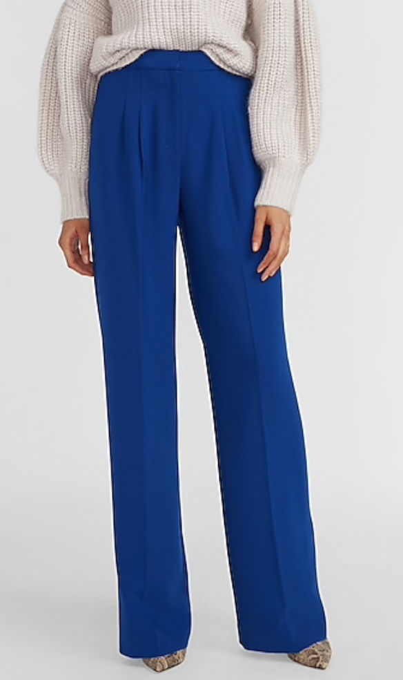 blue vibrant trousers