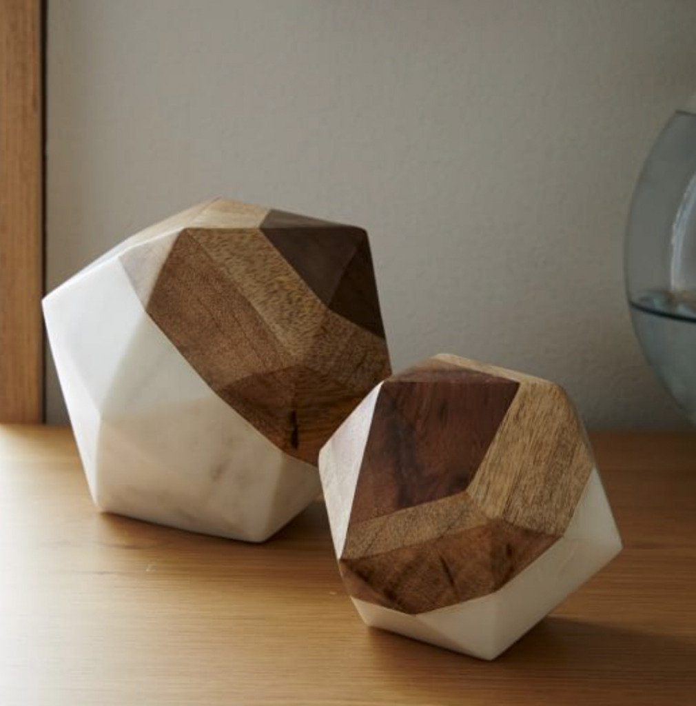 WOOD AND marble objects