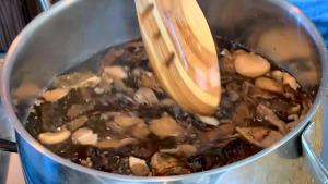 mushroom risotto