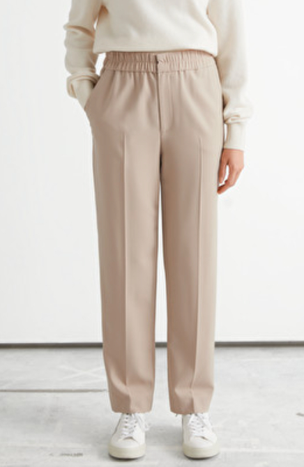 Tapered Elasticated Waist Trousers
