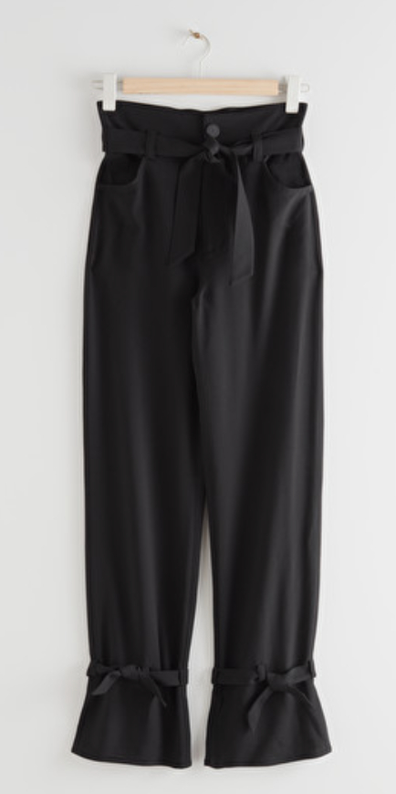 Belted Paperbag Waist Trouser