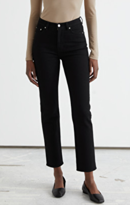 Favorite Cut Cropped Jeans Black