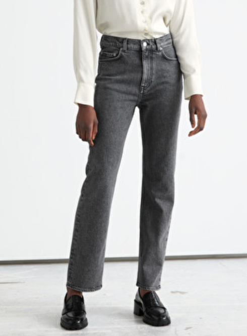 Favorite Cut Cropped Jeans Grey