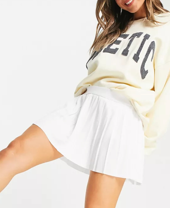 Weekday Serena pleat skirt