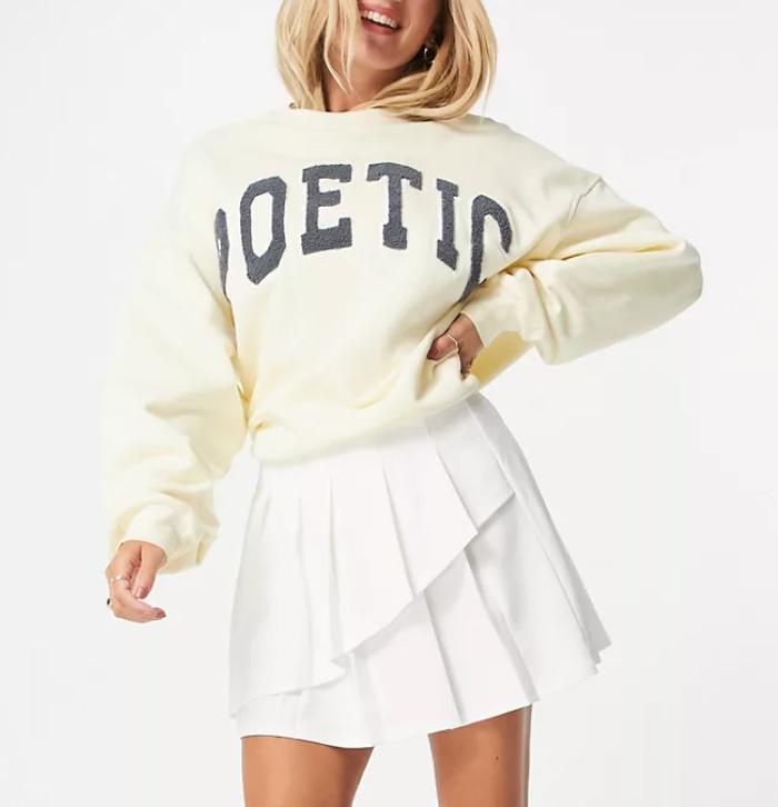 ASOS DESIGN mini pleated tennis skirt with asymmetric wrap