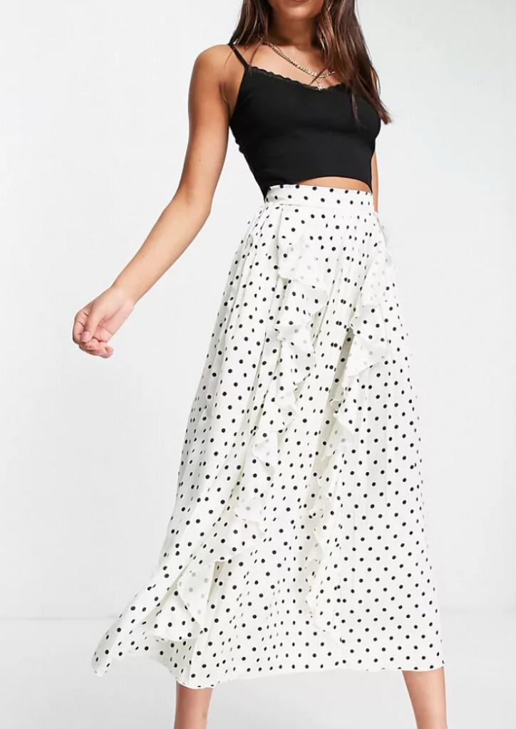 Little Mistress pleated midi skirt