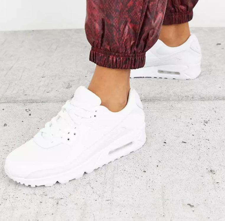 Nike Air Max 90 triple white sneakers