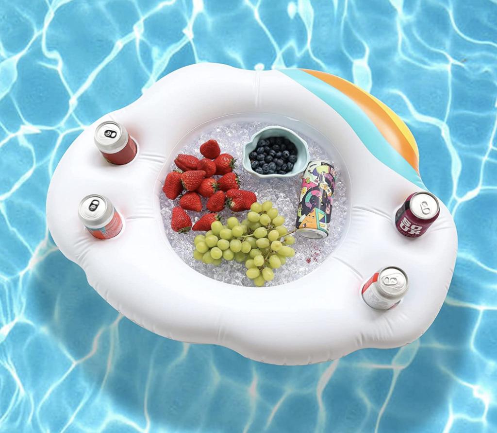 snack and drink holder floating