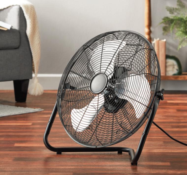 Mainstays 20 inch 360 Degree Pivot High Velocity Steel Floor Fan