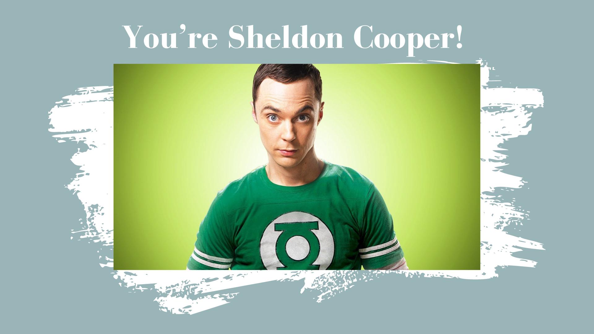 sheldon cooper result