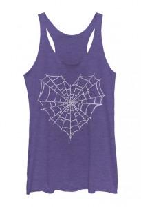 spider web heart shirt