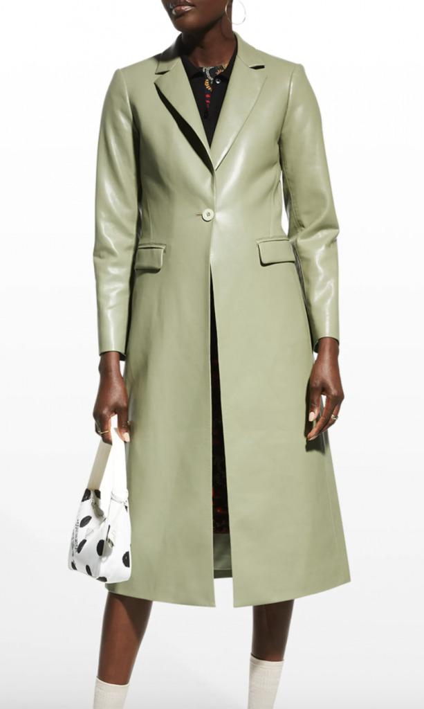 green trenchcoat