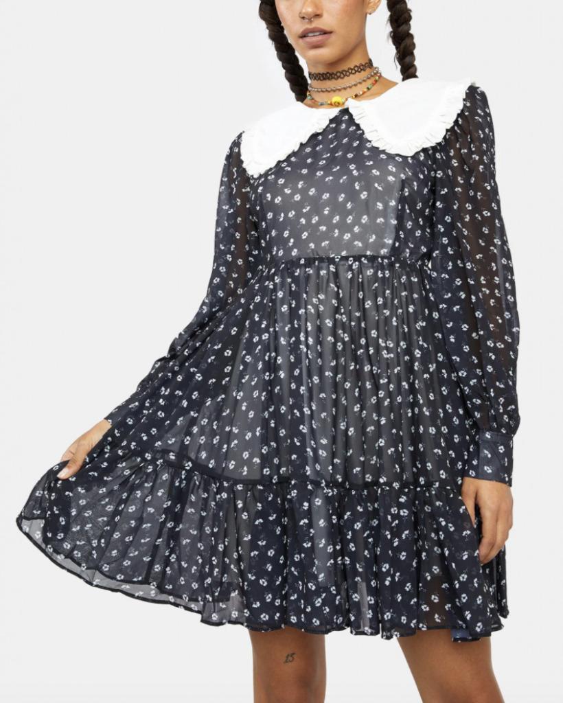 flowing black dress
