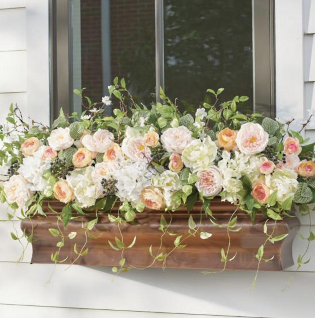 copper window planter
