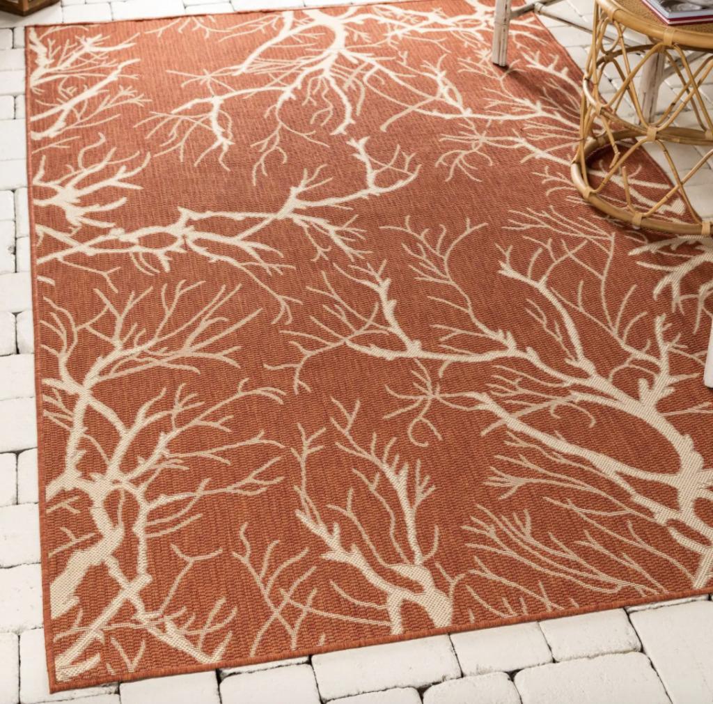 orange fall rug