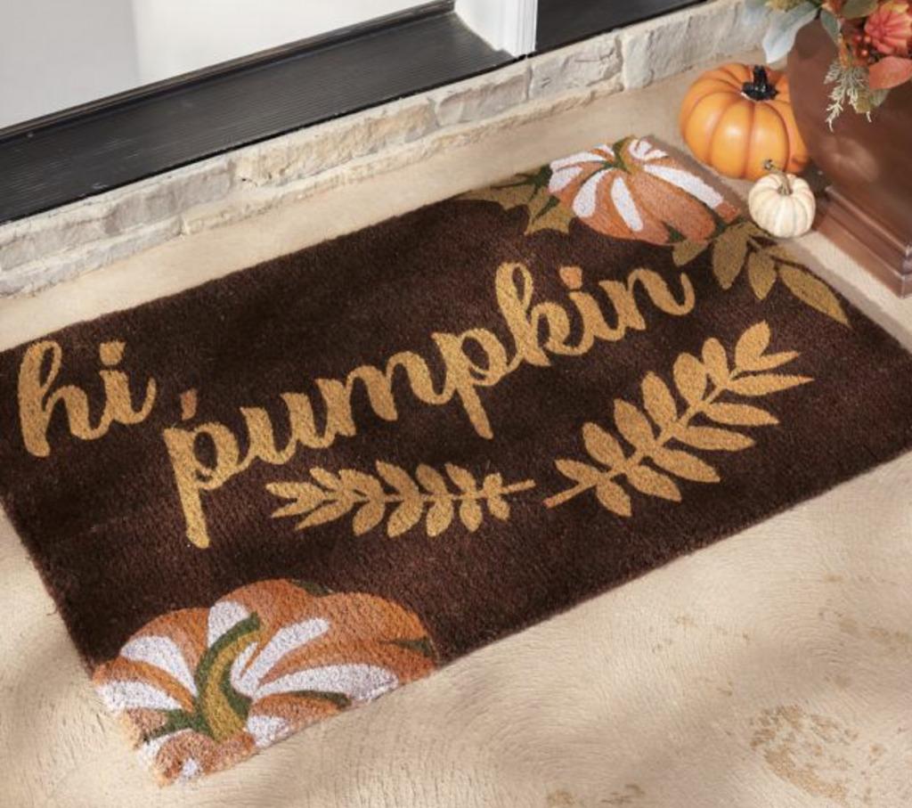 hi pumpkin welcome mat