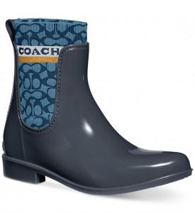 rain boots coach