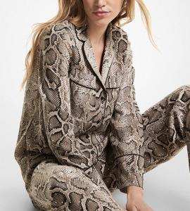 snake print pajamas